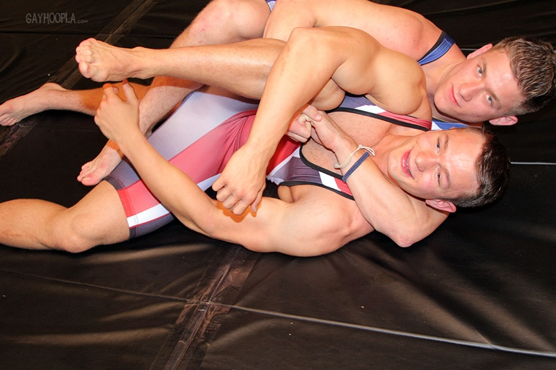 College wrestlers fuck her ass and choke her with dick - 2 5