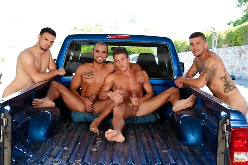 next door buddies  Alexander Gustavo, Brock Avery, Jason Maddox and Joey Rico