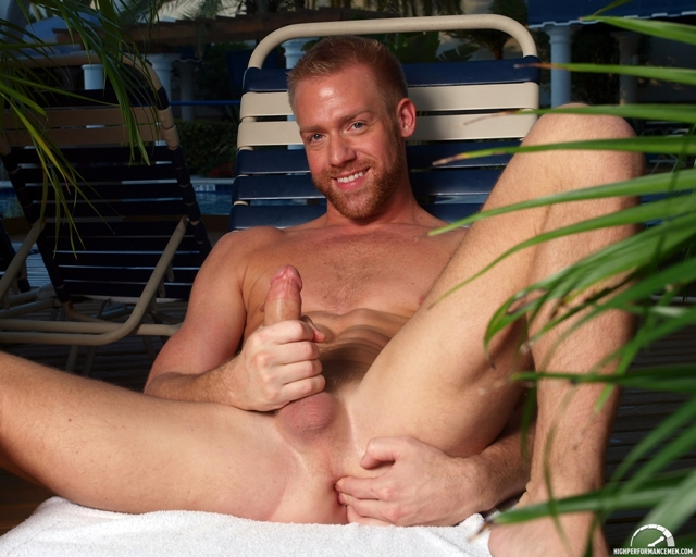 Stroking cock and fingering ass with Christopher Daniels