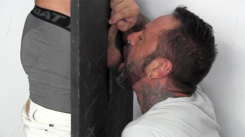 straight fraternity  21 year old Lukas cums through the gloryhole