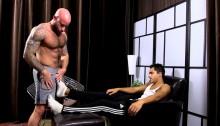 Drake Jaden worships Azif's size 11 bare feet