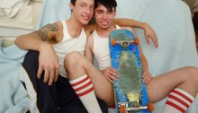 Cute twink couple help us bang some twink ass
