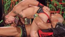 Sebastian Kross loads his massive eight incher into Sean Zevrans' hole