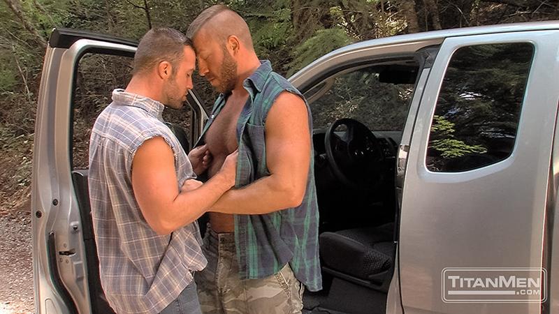TitanMen-outdoors-gay-sex-woods-Hunter-Marx-Trent-Davis-sucks-big-muscle-cock-stroking-rimming-butt-man-hole-hairy-pecs-Fucking-004-tube-video-gay-porn-gallery-sexpics-photo
