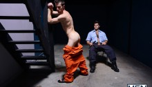 Prison bitch boy Travis Stevens sucks Roman Todd's big fat cock before getting his tight asshole fucked