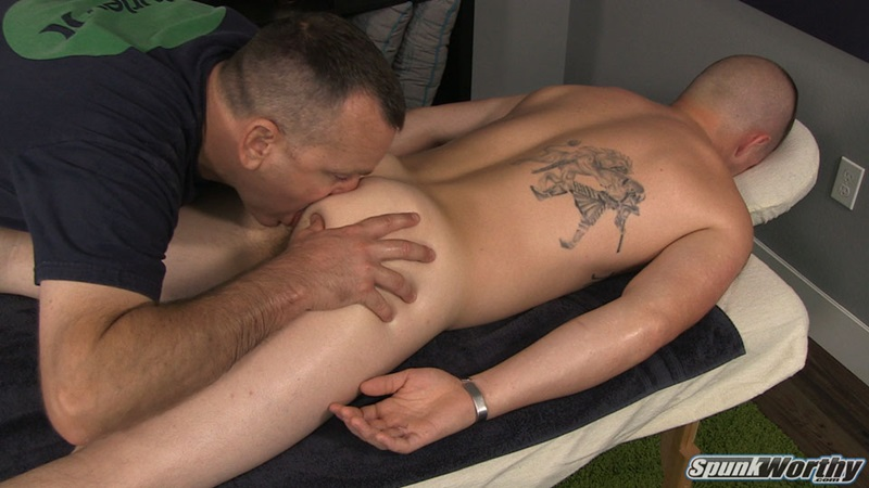 Straight stud Landon's back for a fingering and ass rimming we never thought he would