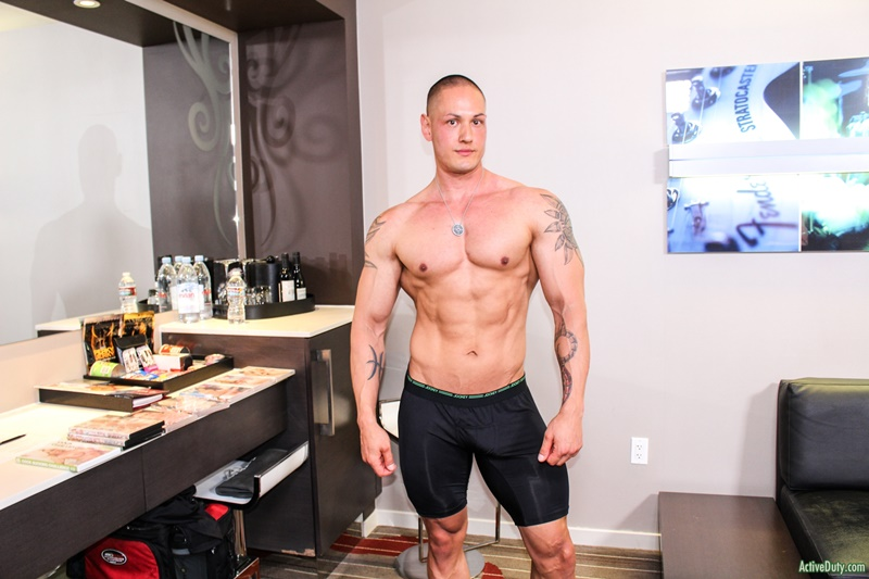 Sexy big muscle hunk Matt jerks his dick to a massive cum explosion