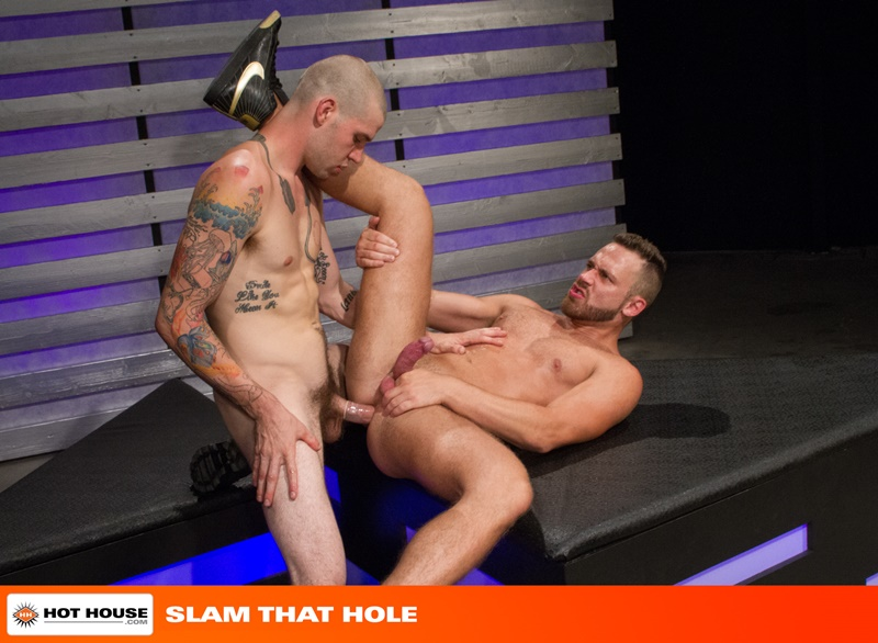 Hothouse-naked-tattooed-muscle-men-jock-strap-Buck-Richards-shaved-head-Logan-Moore-bare-ass-big-thick-long-uncut-cock-anal-rimming-fucking-014-gay-porn-sex-gallery-pics-video-photo