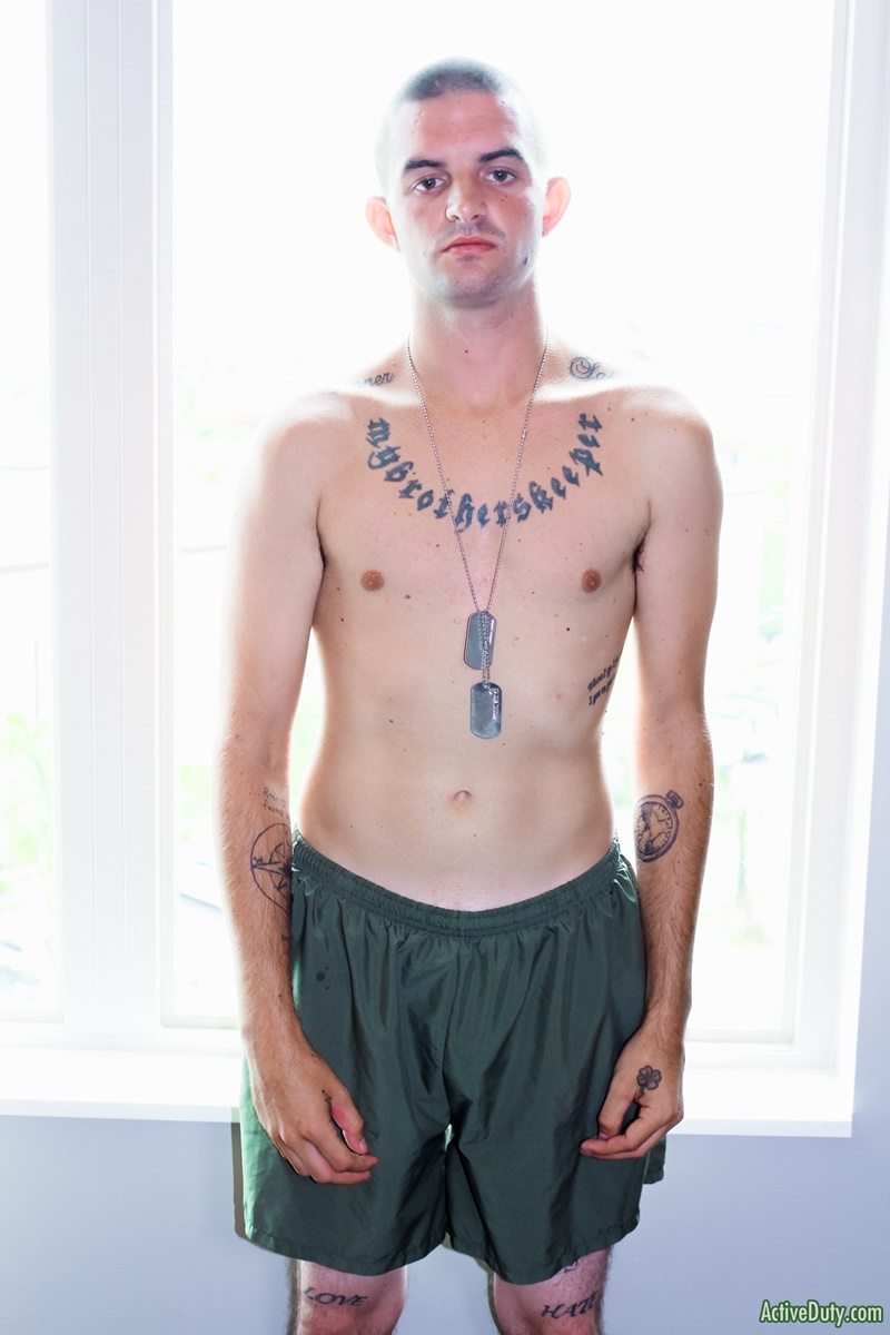 activeduty-shaved-head-tattoo-mikey-shiny-shorts-big-cut-dick-solo-jerk-off-wanking-smooth-chest-white-boy-big-low-hanging-balls-014-gay-porn-sex-gallery-pics-video-photo