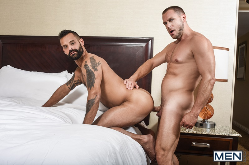 Hans Berlin's huge uncut dick fucks David Benjamin's sexy muscled asshole