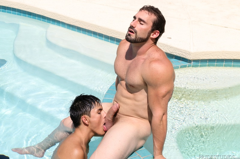 Marco Montgomery moans as Jaxton Wheeler pushes his big dick deep into his ass fucking him slow and hard