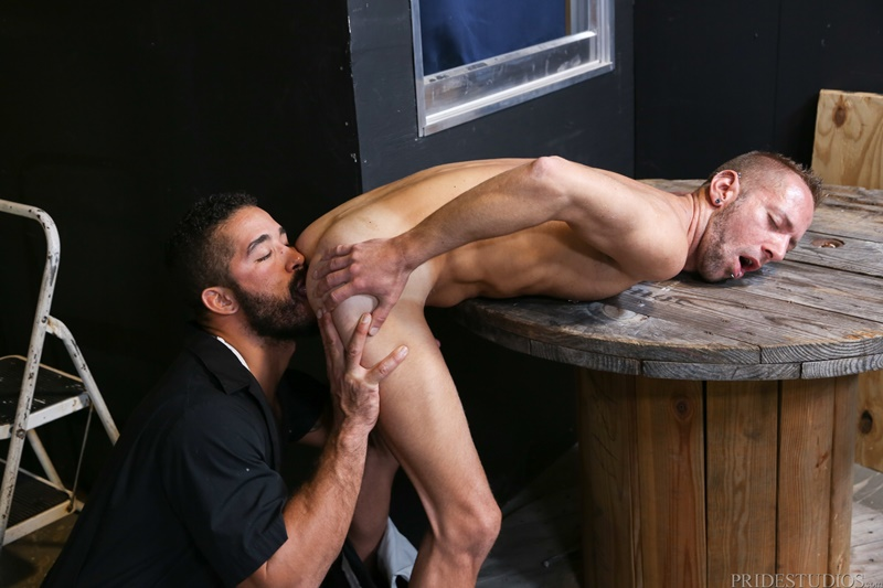Dek Reckless is on his knees chocking on Trey Turner's big cock