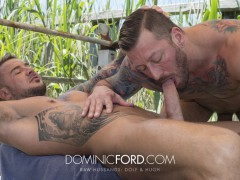 Real life husbands Hugh Hunter and Dolf Dietrich fucking anal