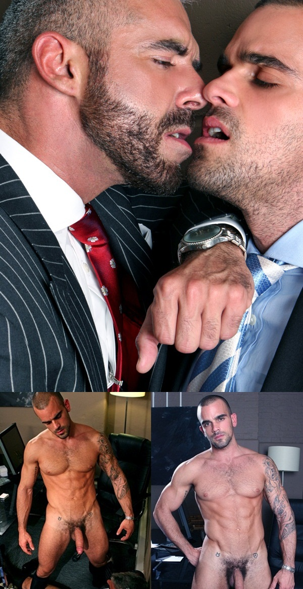 Men at Play suit and tie sex Damien Crosse and Samson Stone in pissing scene golden handshake_002 Download Full Gay Porn Gallery here 1f