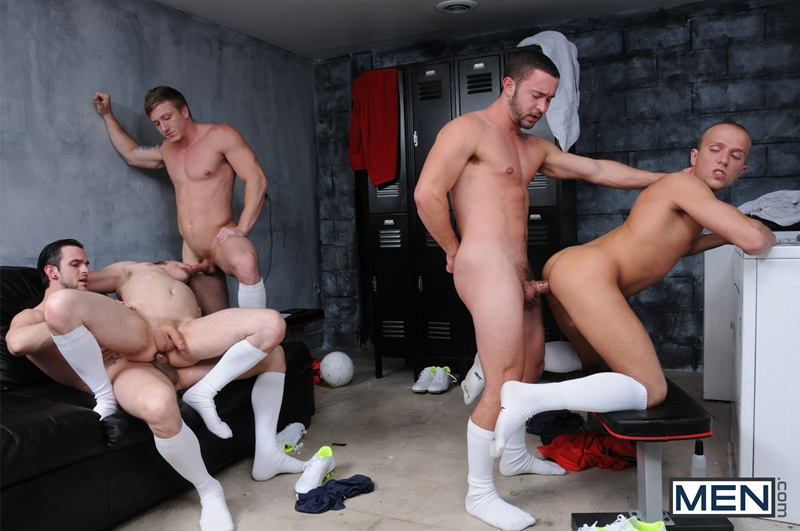 men  Colt Rivers, Phenix Saint, Rob Ryder, Steve Stiffer and Tom Faulk