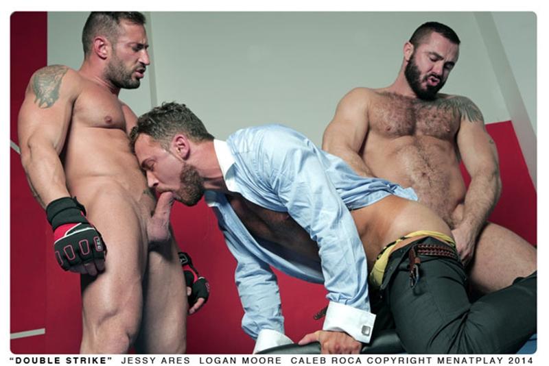 muscle men 2 men at play  Logan Moore, Jessy Ares and Caleb Roca
