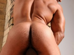 Roman Wright black hairy muscle man for Butch Dixon