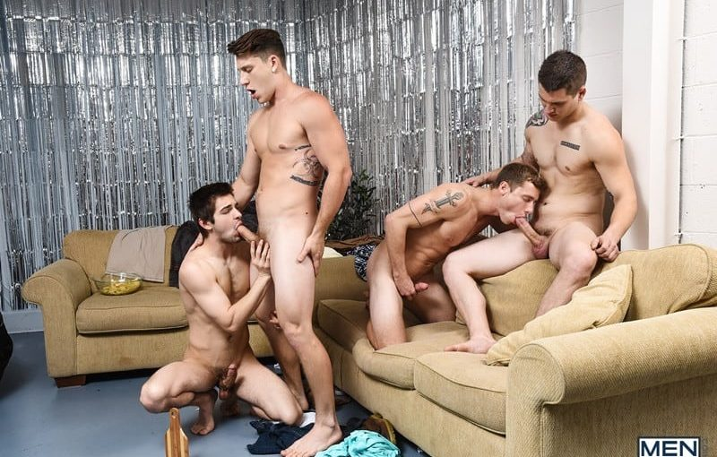 Sexy young stud Paul Canon's hot ass abused by Johnny Rapid, Allen Lucas and Justin Matthews