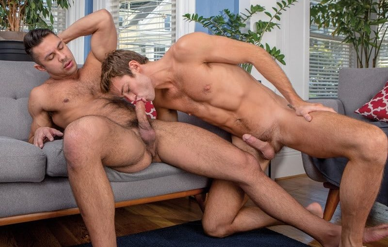 Seth Santoro's big cock feels amazing deep inside of Max Adonis bubble butt ass