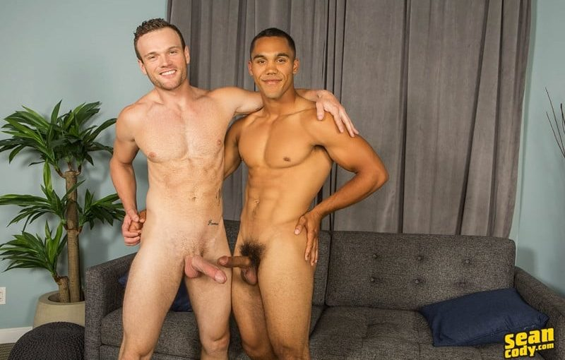 Hot naked muscle boys Murray and Sean bareback ass fucking