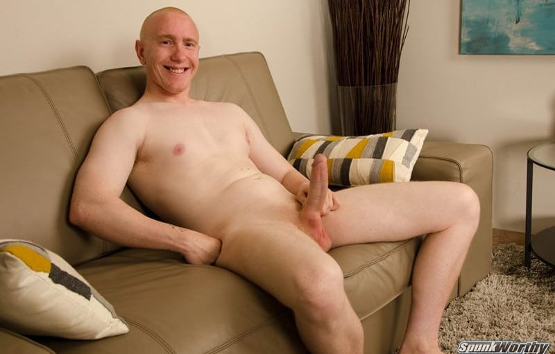 23 year old straight All American hunk Buzz gets excited knowing guys will be watching him jack off