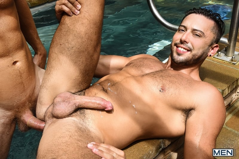 Men for Men Blog Justin-Matthews-and-Shane-Jackson-dildo-ass-play-Men-com-019-gay-porn-pics-gallery Justin Matthews is shocked to find Shane Jackson in the pool taking a huge dildo up his ass Men