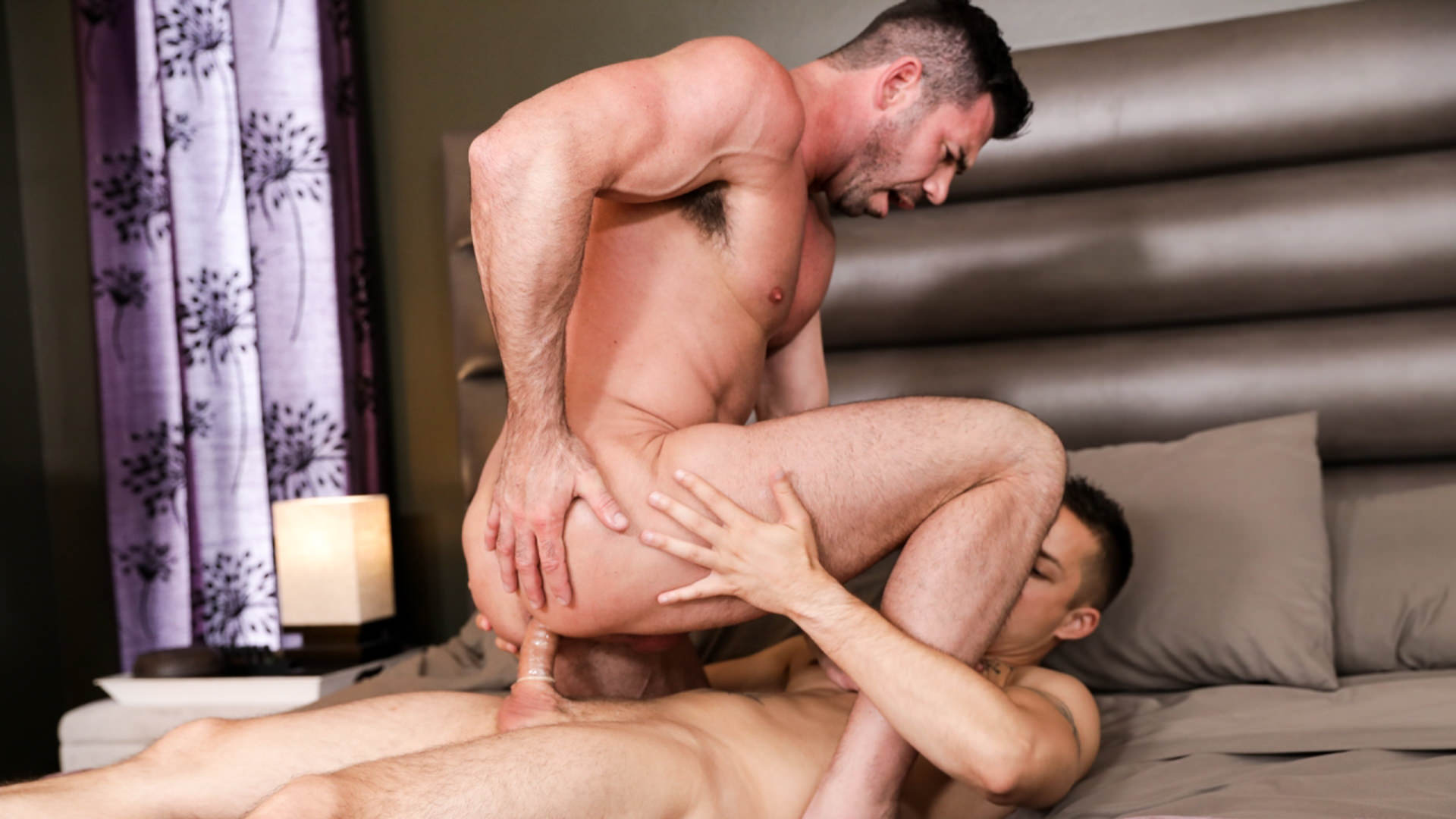 Men for Men Blog 70518_02_01 Big muscle dude Billy Santoro's hot bubble ass fucked by young stud Nic Sahara's huge twink dick Icon Male