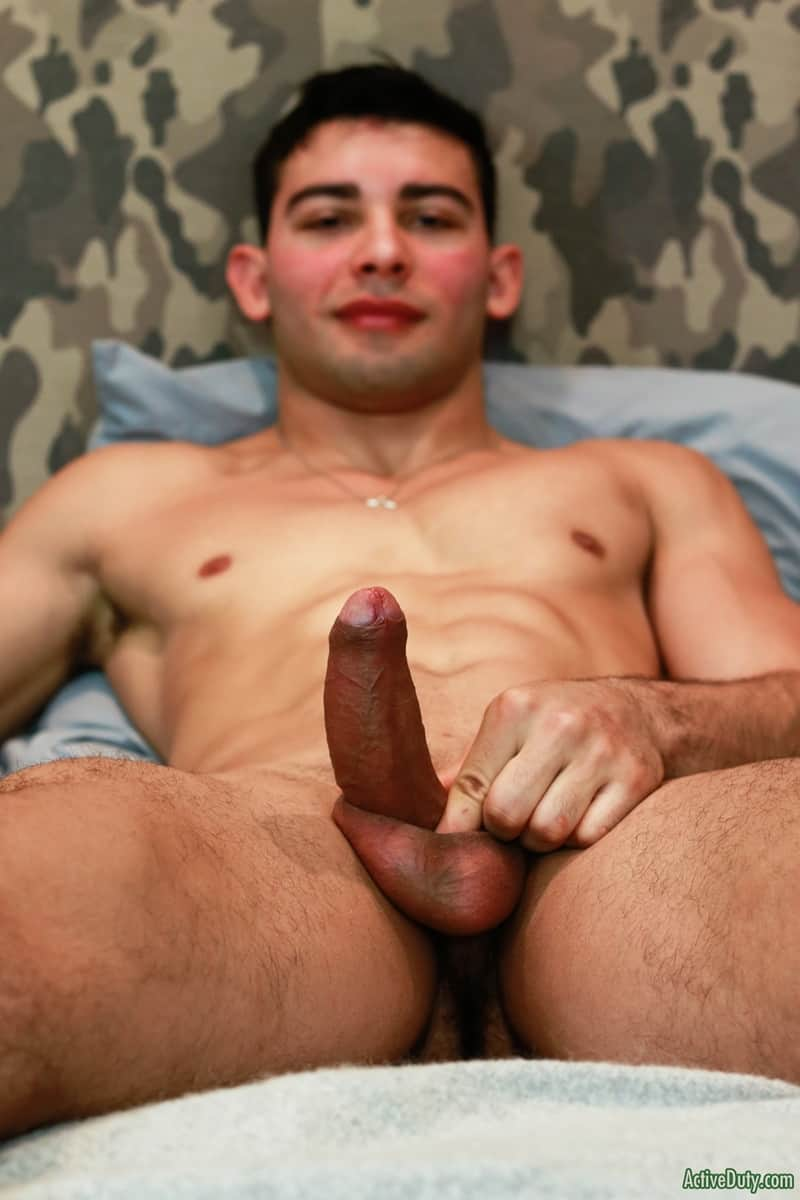 Men for Men Blog Monte-Marcello-Sexy-young-soldier-strokes-big-uncut-dick-foreskin-huge-cum-load-ActiveDuty-011-gay-porn-pics-gallery Sexy young soldier Monte Marcello strokes his big uncut dick playing with his foreskin before shooting a huge load Active Duty
